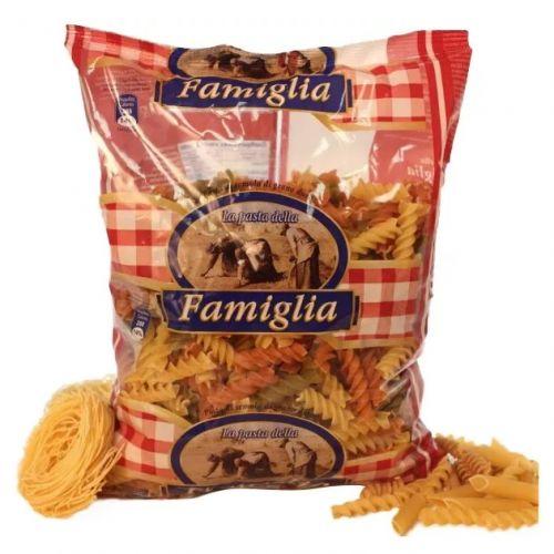 Макароны цветные Famiglia Fusilli Tricolori, 500г