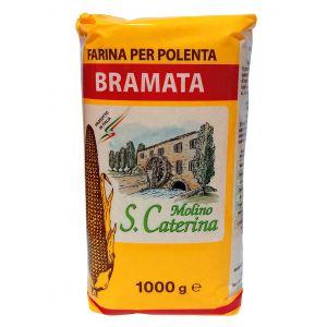 Мука кукурузная тонкого помола Perteghella Брамата, 1кг