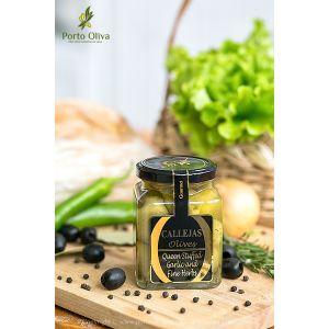 Оливки зелёные фаршированные чесноком CALLEJAS, 300г