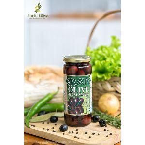 Оливки чёрные с косточкой Каламата ERATO PDO, 500г