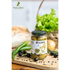 Оливки зелёные фаршированные миндалем ILIADA, 370г