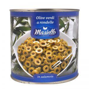 Оливки зелёные резанные Masiello, 2.6кг